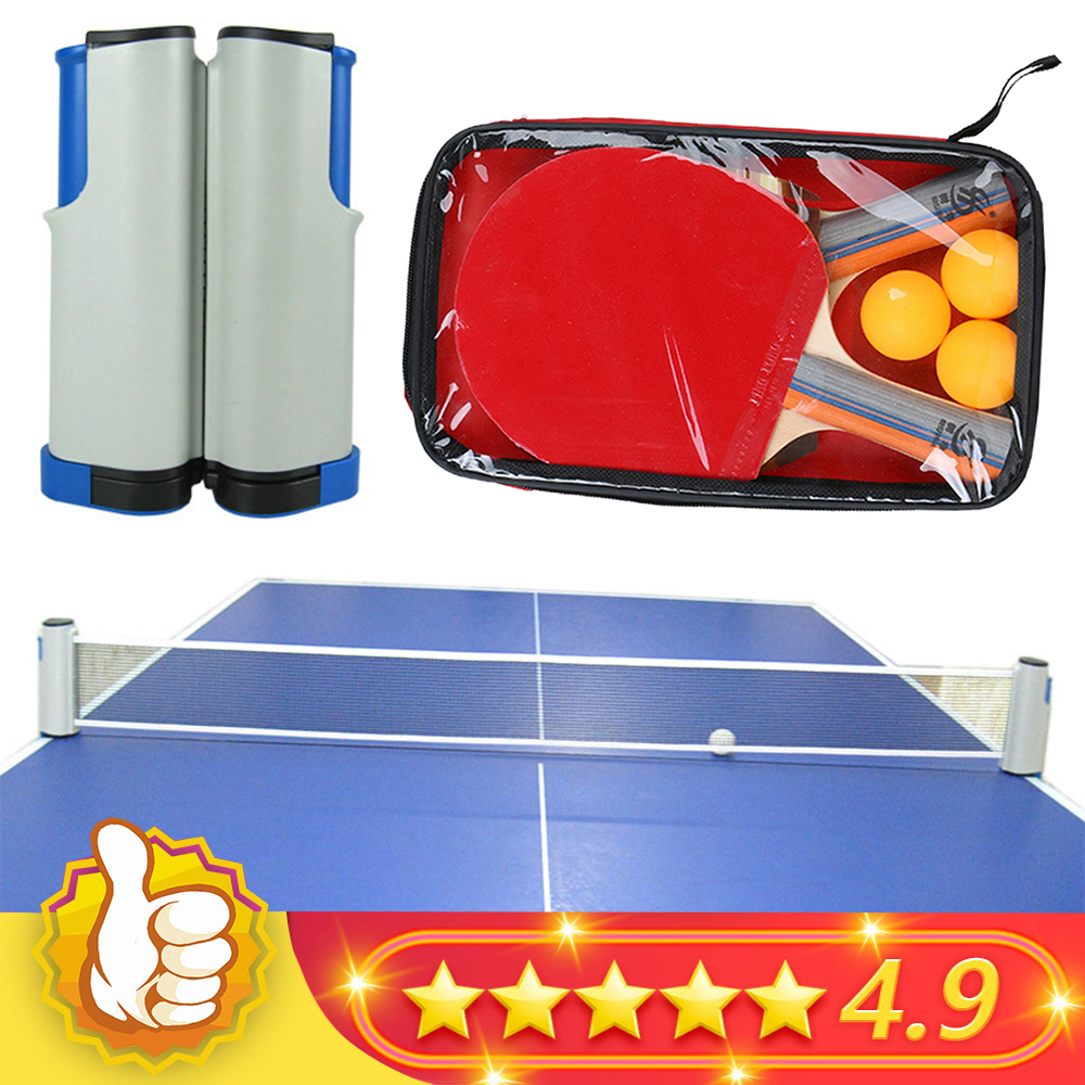 2020 NEW Table Tennis Net Portable Retractable Ping Pong Post Net Tennis Tackets Bracket Rack For Any Table Grid Replacement Kit