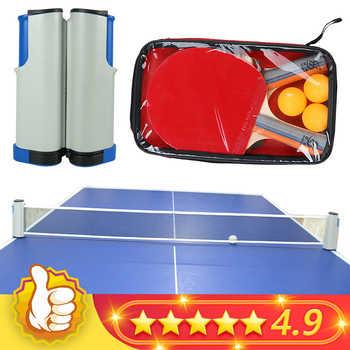 2020 nueva malla Net para tenis de mesa portátil retráctil Ping Pong puesto neto directo Tackets soporte Rack para mesa red Kit de reemplazo