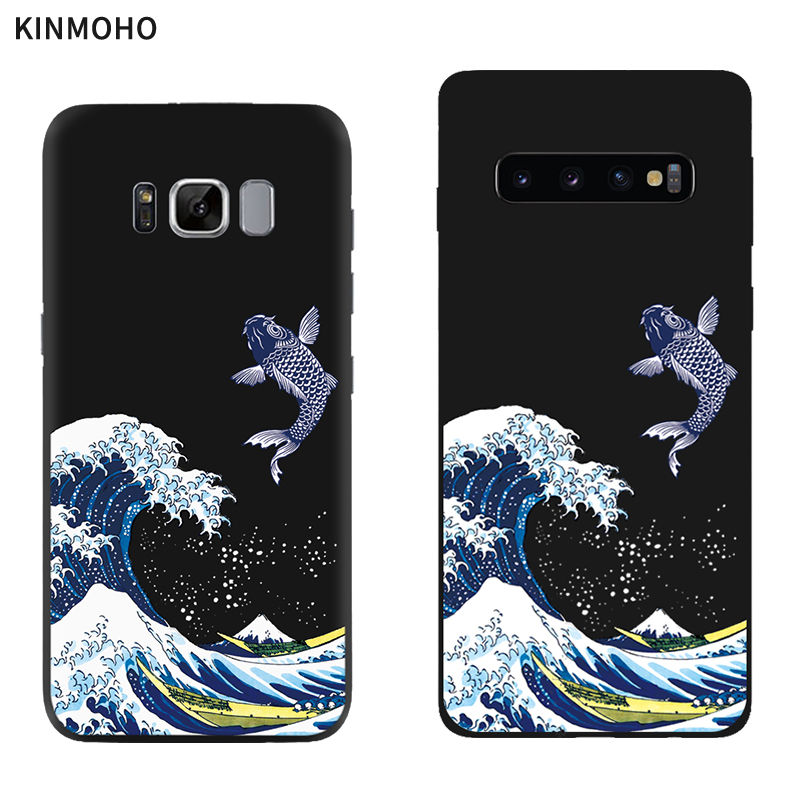 Япония The Great Wave off Kanagawa чехлы для телефонов Samsung Galaxy S8 S10 S9 Plus S7 A5 J5 J7 2017 A7 2018 A8 A9 Мягкий ТПУ image