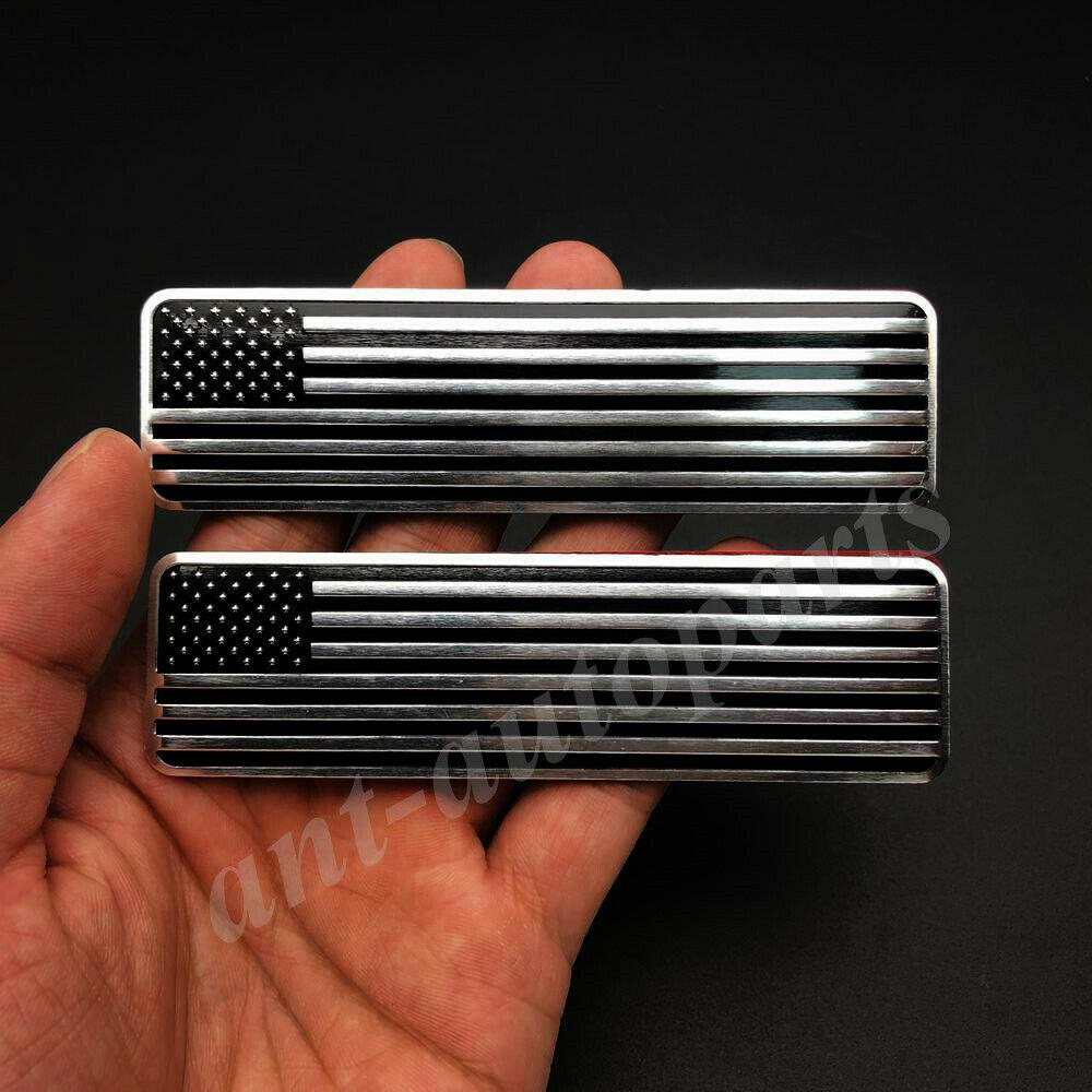 2x черный металлический американский флаг Эмблема автомобиля значок мотоцикла Наклейка обтекатель