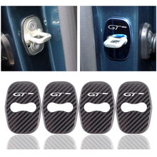 Cubierta de plástico y acero inoxidable para cerradura de puerta de coche, accesorios de decoración para Peugeot GT 208, 308, 408, 508, 2008, 3008