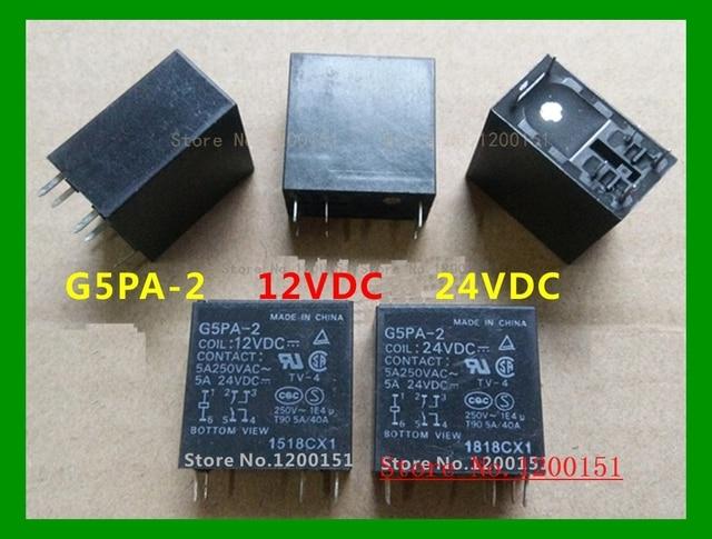 2 قطعة/الوحدة G5PA 2 G5PA 2 12VDC 12VDC G5PA 2 24VDC 24VDC 5A تتابع DIP 6