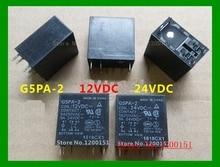 2 pçs/lote G5PA 2 G5PA 2 12VDC 12VDC G5PA 2 24VDC 24VDC 5A relé DIP 6