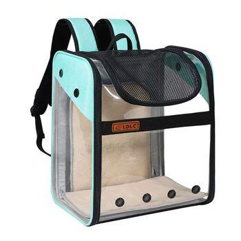 THINKTHENDO Expandable Cat Carrier Backpack Space Capsule Transparent Bubble Pet Bag
