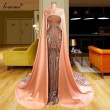 Robe de soirée à effet d'illusion musulmane pour femmes, tenue de fête arabe, longue, perles, Couture turque, photographie