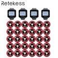 RETEKESS ресторанная система вызова официанта беспроводной настольный звонок пейджеры 4 часы приемник + 30 Кнопка вызова обслуживание клиентов ...