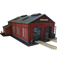 Surwish 1:87 HO Scale Locomotive Garage Sand Table Scene Decorations Ho Scale Model Train Accessories High Quality