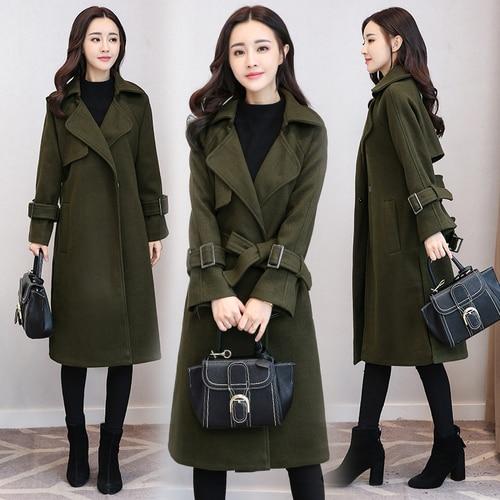 Autumn And Winter   Trench   Coat For Women Overcoat Korean Ladies Coats Long Overcoat Women Fashion Clothes Woman Windbreaker