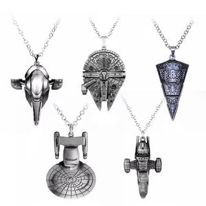 Pendant Necklace R2D2 Star-Wars Support Robot Spaceship Han Solo