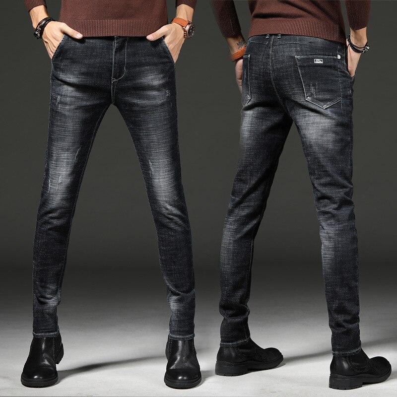 Jeans Men's 2019 Autumn New Style Men Slim Fit Casual Business Versatile Elasticity Long Pants Fashion