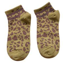 5 цветов, женские хлопковые короткие носки-башмачки в стиле Харадзюку по щиколотку, ребристая отделка, блестящие двухполосные Чулочные изделия с леопардовым принтом