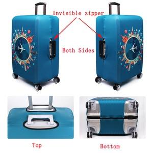 Image 4 - אלסטי נסיעות מזוודות כיסוי Dustproof מגן נסיעות מזוודה כיסוי עבור 18 32 אינץ עגלת תיק מקרה אביזרי מטען