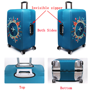 Image 4 - Elastic Travel Luggage Cover Dustproof Protective Travel Suitcase Cover For 18 32 Inch Trolley Bag Case Luggage Accessories