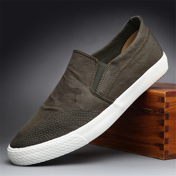 Men Loafers Shoes Male Flats Breathable Anti Slip Shoes Men Canvas Shoes Man Black Green Sneakers Hommes Vulcaniser Chaussures miubu quality men flats shoes loafers summer male shoes slip on men zapatos chaussures men loafer shoes hot sale