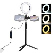 Light-Stand Ring-Light Youtube Instagram PULUZ Photography Vlogging Dimmable LED