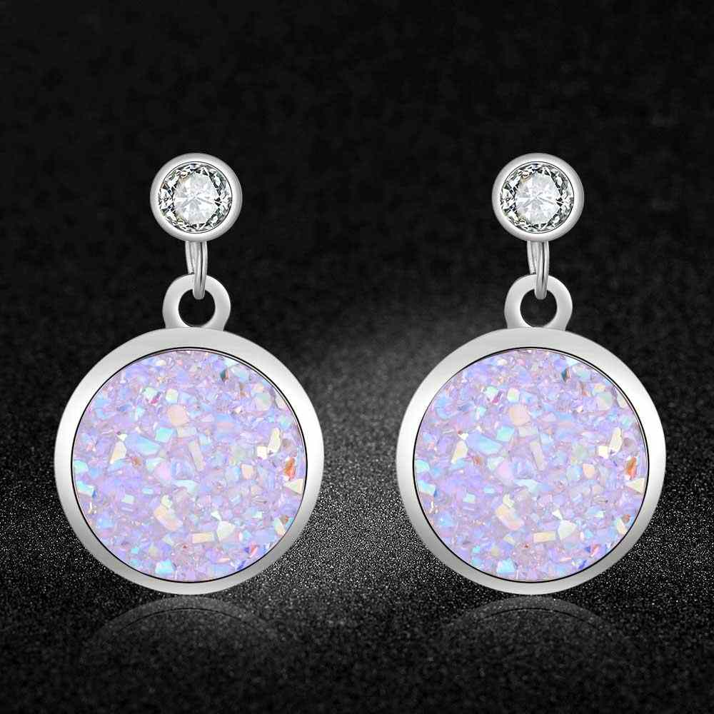 Fabulous 100% Stainless Steel Shinning Resin Drop Earring for Women Gift Super Fashion Earrings Wholesale