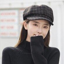 Hats Octagonal Beret-Caps Painter Wool Classic Artist Cotton Women Stylish New Autumn
