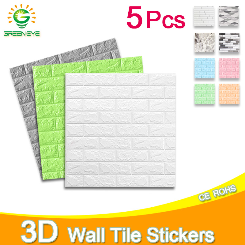 Wall Paper 3D Marble Mosaic Peel And Self-adhesive Wall Stickers Waterproof Kitchen Bathroom Home Wall Decal Sticker 1pc/5pcs
