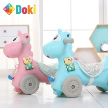 Animal Rocking Horses Baby Horse Stroller Kids Animal Multi-functional Chairs Trojan Toys Boys Girls Walker Doki Toy 2021