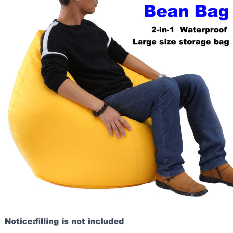 NEW Large Bean Bag Sofa Cover Lounger Chair Sofa Ottoman Seat Living Room Furniture Without Filler Beanbag Bed Pouf Puff Couch