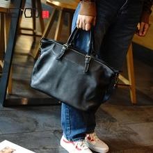 AETOO Retro head soft cowhide handbag, simple practical shopping bag, large-capacity commuter shoulder woman bag