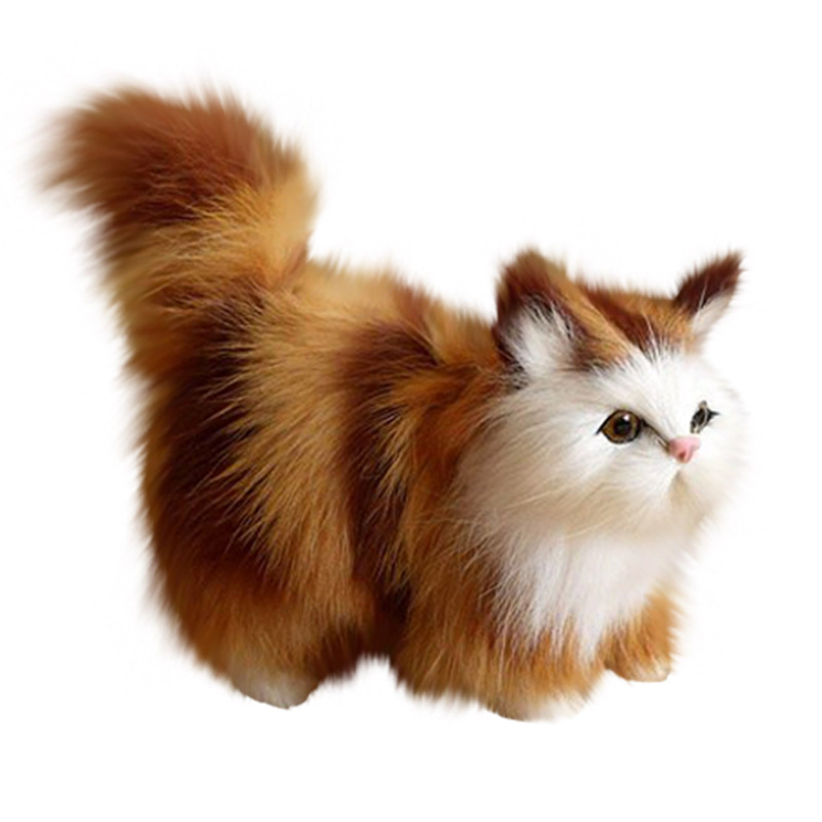 Плюшевые игрушки животных кошка кукла моделирование кошка плюшевые игрушки Игрушка-симулятор животного детей футболка с длинными рукавам...