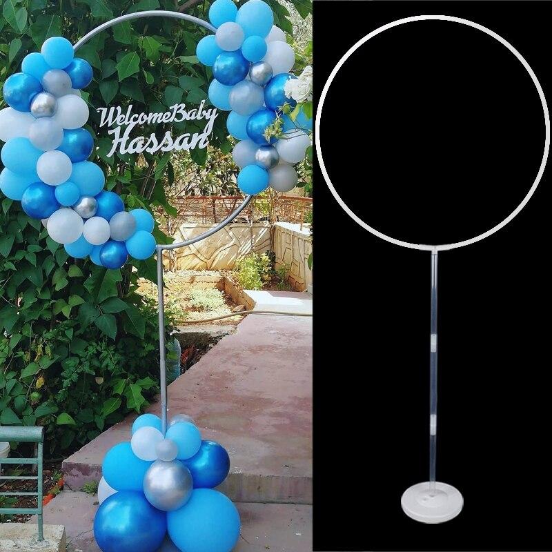 Balão redondo suporte arco balões grinalda anel para decoração de casamento chuveiro do bebê crianças festas de aniversário natal ballon guirlanda