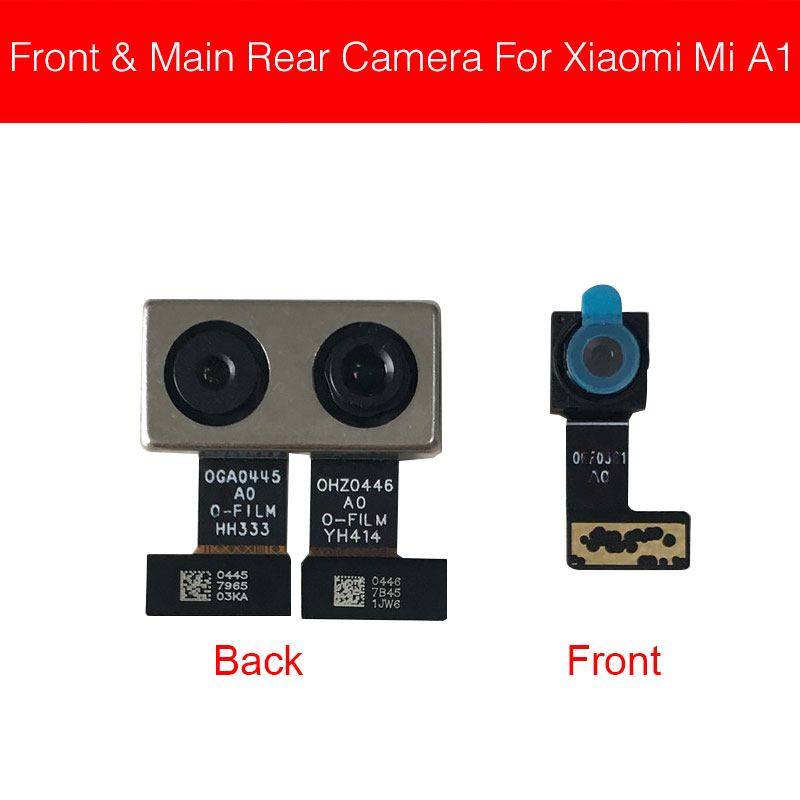 Front & Back Rear Camera Flex Cable For Xiaomi Mi A1 5X Mi5X Main Big Camera Flex Ribbon Cable Replacement Repair Parts