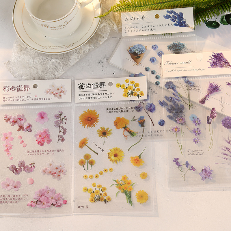 The Dance Of Flowers PET Stickers Scrapbooking Bullet Journal Diary Stationery Label Sticker School Office Supplies