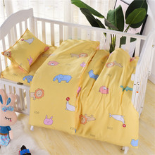 3Pcs Baby Bedding Set Crib Bed Set Quilt Cover Babi Girl Boy Bedding Cotton Bed Sheet Pillowcases 0-3 Months to 2 Years Up promotion 5pcs mesh baby bedding set crib bumper baby bed linens for girl boy bed sheet include 4bumper sheet
