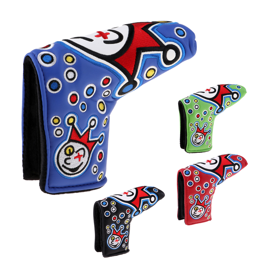 Premium PU Leather Golf Putter Headcover Club Head Cover Perfect For Mallet Putters - Anti-Scratch Durable Waterproof Stylish