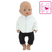 2Pcs in 1, Sale Doll Clothes Suit Fit 43cm Baby Doll Doll Warm Jackets+Pants and Doll accessories Ch