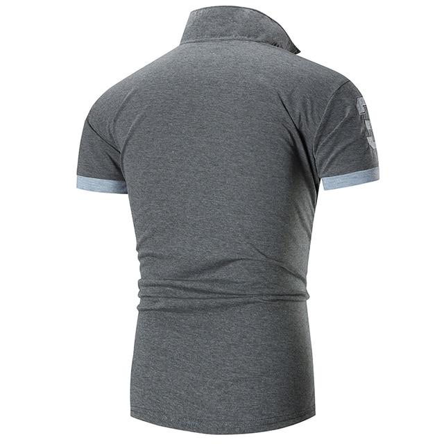 men's polo shirts casual short sleeve polo shirt men fashion embroidery Business men's clothing thin summer polo shirt men 6