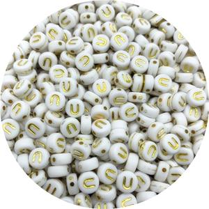 100 шт., 7 мм, Золотая буква, бисер овальная форма, буквы алфавита, разделенные бусины, подвески для браслета, бусины для самостоятельного изготовления ювелирных изделий, аксессуары|Бусины|   | АлиЭкспресс