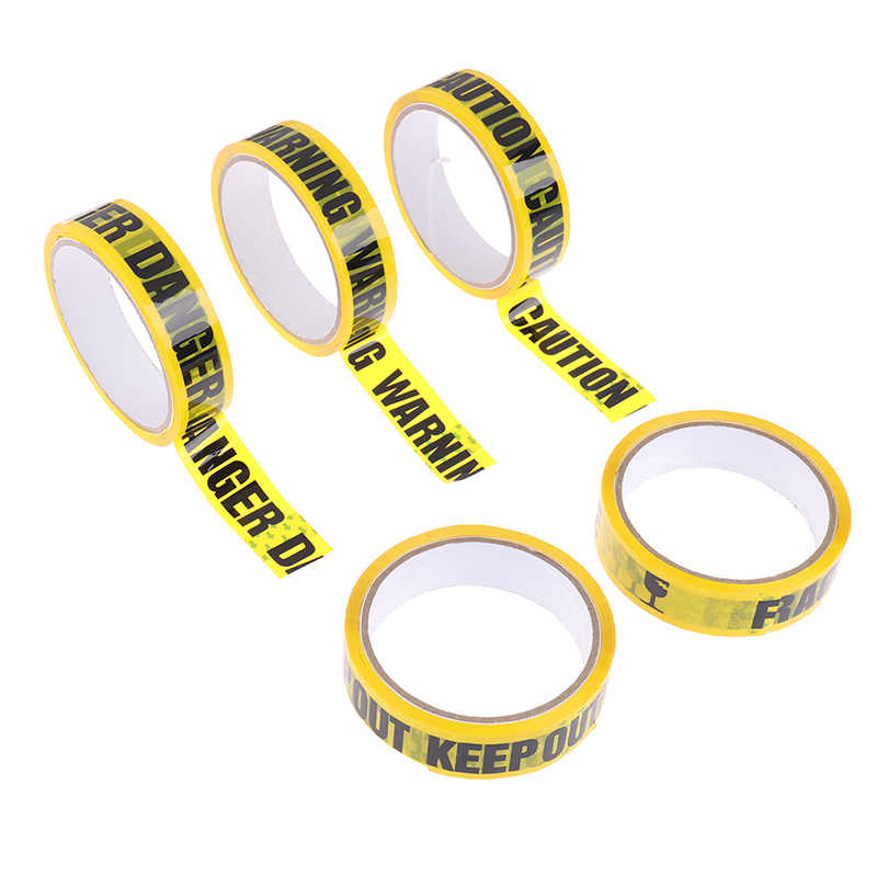 1Roll Warning Tape Danger Caution Fragile Barrier Remind Work Safety Adhesive Tapes DIY Sticker