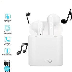 Image 2 - I7s Tws אלחוטי אוזניות Bluetooth אוזניות אוויר אוזניות דיבורית באוזן אוזניות עם טעינת תיבת עבור iPhone Huawei Xiaomi