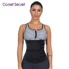 Corset Secret Women Waist Trainer Big Size Neoprene With Sticker Plus Cinchers Slimmer