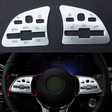 2 pces volante do carro botão interruptor painel capa guarnição para mercedes benz a c e classe glb glc gle w177 w205 w213 w247 w167 19 20