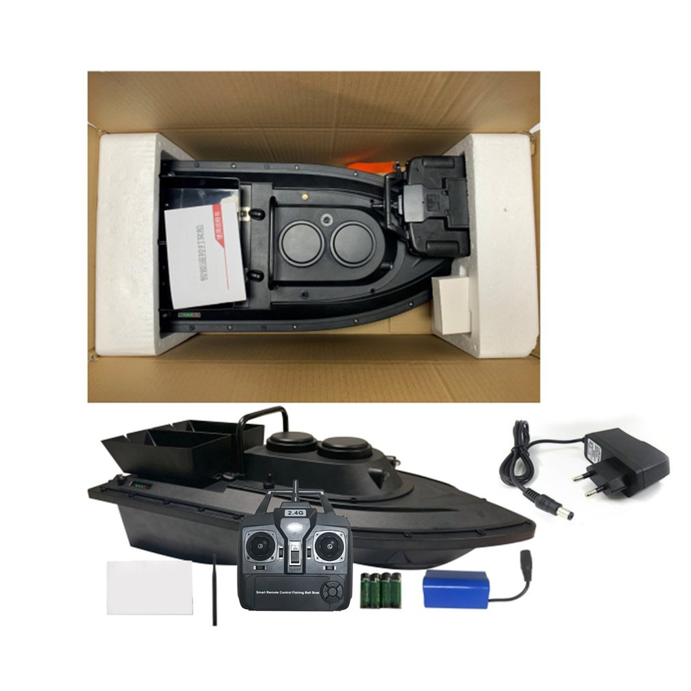 New D11 Fishing Tool Smart RC Bait Boat Boy Toys Dual Motor Fish Finder Ship Boat Remote Control 500m Fishing Boats Speed Boat