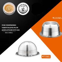 Besar dan Kecil Espresso Capsulas Recargables Nespresso Vertuoline & Vertuo Stainless Steel Isi Ulang Filter Kopi Reusable Kapsul