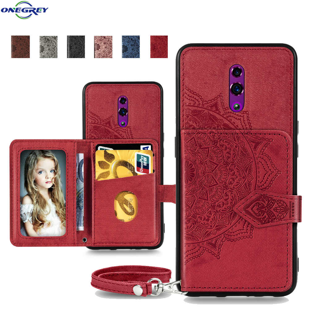 Luxury Wallet <font><b>Case</b></font> For <font><b>Oppo</b></font> R17 <font><b>F11</b></font> <font><b>Pro</b></font> Reno A9 2020 A92 A52 A72 A91 Lanyard Etui Stand Holder Phone Cover Photo Card Solt Coque image