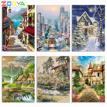 Zooya 5D Diy Diamond Painting Full Square Landscape Full Diamond Embroidery Complete Kit Diamond Mosaic Full Layout Gift   Zh004 zooya 5d diy diamond painting full square landscape full diamond embroidery complete kit diamond mosaic full layout gift zh004