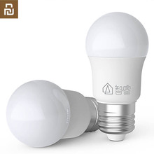 Youpin ZHIRUI 5W הנורה E27 6500K 500lum לבן צבע LED הנורה אור לבית ערכת מנורת אור מנורה