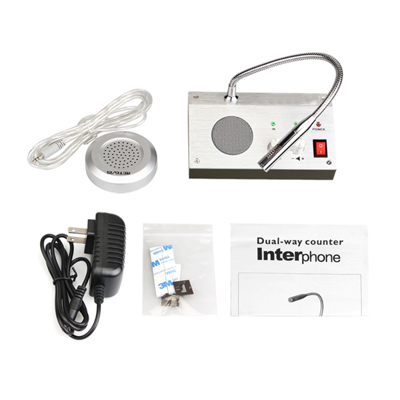 Dual Way Window Counter Intercom Interphone Window Speaker For Bank Station Business Store Security Window  Intercom System
