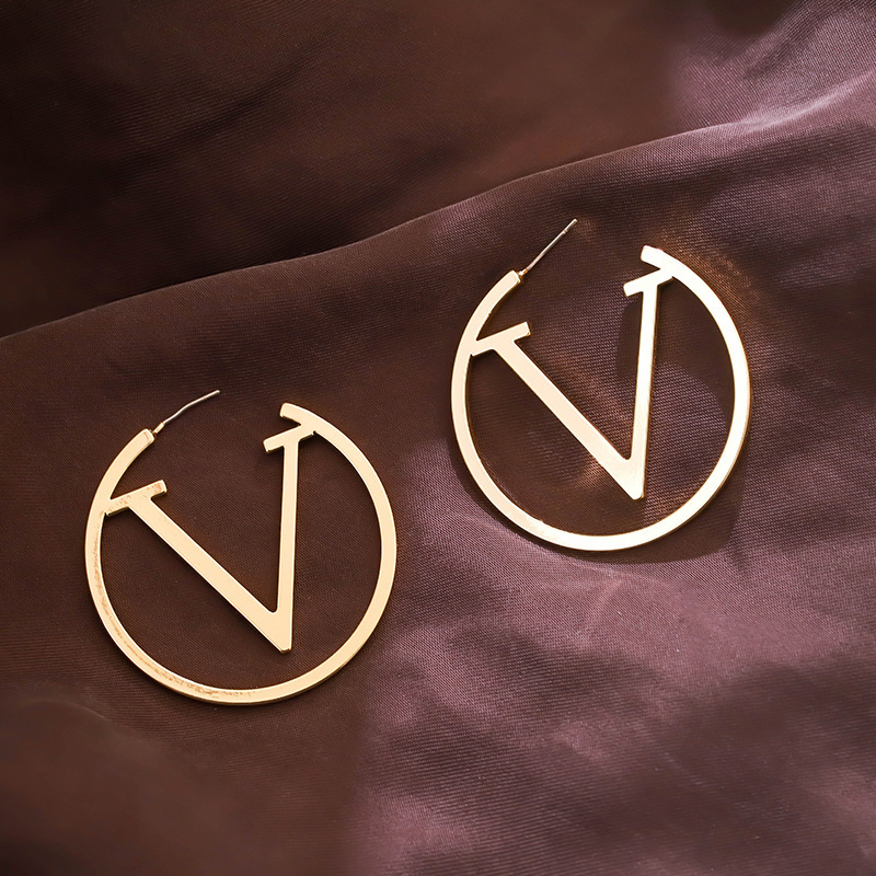Hoop Earrings For Women Gold Letter Earrings Earrings Aros De Moda 2020 Brincos Fashion Jewelry