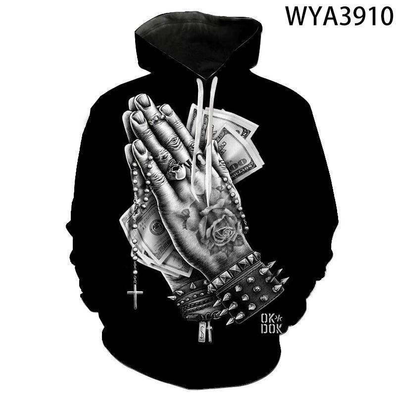 2020 new pray long sleeve Hoodie men's / women's Sweatshirt autumn winter street style comfortable casual fashion Hoodie