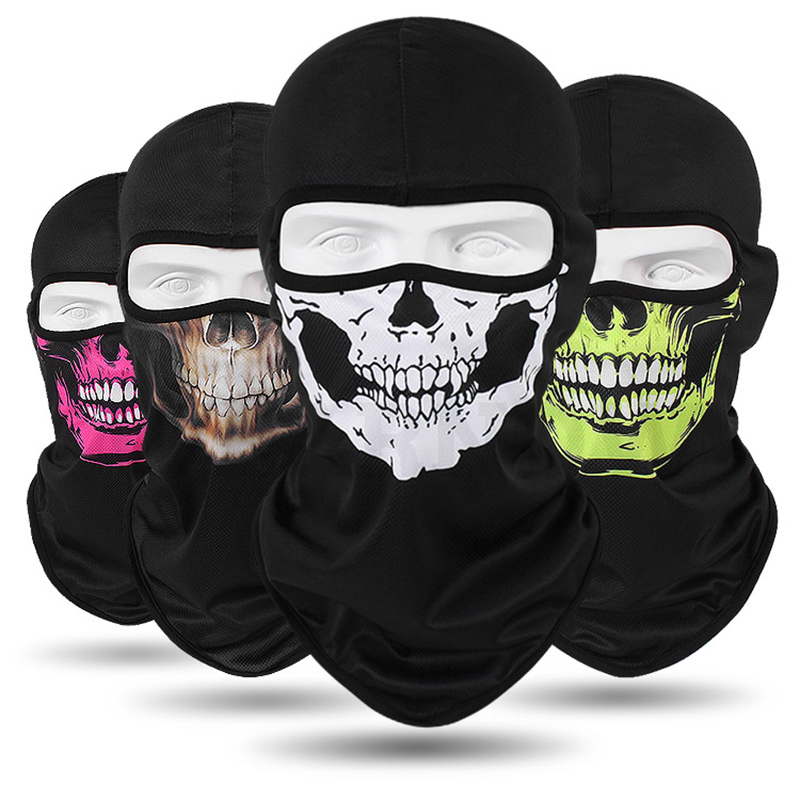 25 Color Balaclava Winter Hats For Men/women's Hat Quick-drying Breathable Skull Cap Outdoor Sunscreen Horror Mask TTM-CZX28