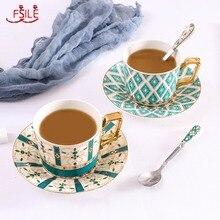 Saucer-Set Afternoon European Tea-Tableware-Set Ceramic-Mugs Coffee-Cup British FSILE
