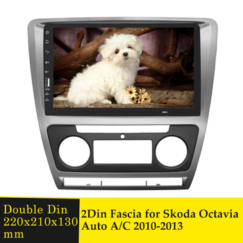 2 Din Car Radio Fascia Navigation Frame Dash Kit For Skoda Octavia(2010~2013) Auto A/C Audio Stereo DVD Player Cover Panel Bezel image