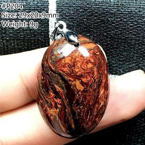 Image 5 - ธรรมชาติสีแดงPietersiteจี้สำหรับหญิงชายนามิเบียหินลูกปัดหยดสร้อยคอจี้เงินเครื่องประดับAAAAA